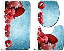 3 STÜCKE Weihnachten Badezimmer Rutschfeste