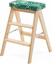 3-Stufen-Leiter Hocker Massivholz Klappküche 3-Tier-Haushalt multifunktionale Stuhl Schritt Hocker tragbare Bank Holz Farbe (Farbe : Style 3)