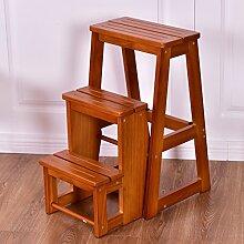 3 stufig Leiterstuhl Treppenleiter Klapptreppe Klappstuhl Trittstuhl Trittleiter Holztritt Hocker Holz