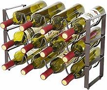 3-stufiges stapelbares Weinregal - Weinregale im
