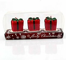 3 TEILE/SATZ Bunte Kerzen Weihnachtsmann