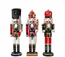 3 Teile/satz Weihnachten Holz Nussknacker Set,