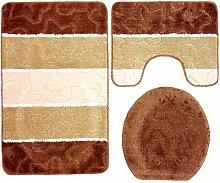 3- teilig Badgarnitur braun beige gestreift 80 x