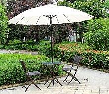3-teilig Balkonset Kombinationen Patio Outdoor Balkon 3 Stück faltbare Tisch und Stühle (2 Stühle und 1 Tisch),