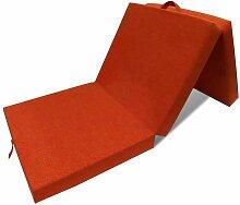 3-teilige Klappmatratze 190x70x9 cm Orange