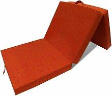 3-teilige Klappmatratze 190x70x9 cm Orange VD08851