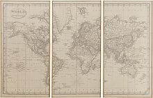 3-teilige Weltkarte 159x101
