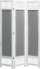 3-teiliger Raumteiler Grau 105 x 165 cm Stoff