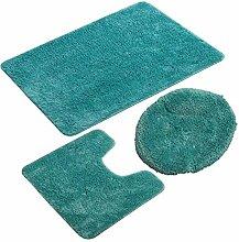 3-teiliges Badezimmerteppich-Set, Rutschfester