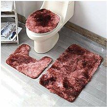 3-teiliges Badezimmerteppich Set, Rutschfester