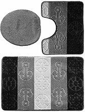 3 teiliges Badgarnitur Set Titanik Muster mit
