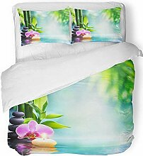 3-teiliges Bettbezug-Set Atmungsaktives