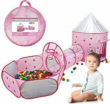 3-Teiliges Kinder Spielzelt Tunnel Spielplatz