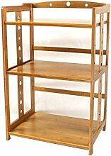 3 Tier Bambus Küche Regal Lagerregal Mikrowelle