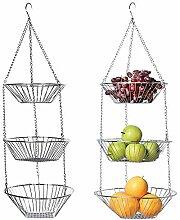 3 Tier Draht hängend Obstkorb Home Küche Metall