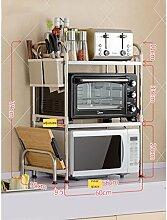 3 Tier Küchenregal Edelstahl Mikrowelle Rack,