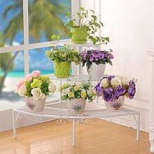 3 Tier Leiter Blumenregale Eisen Metall Blume