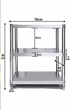 3 Tier Mikrowelle Rack, Küchenregal 304 Edelstahl
