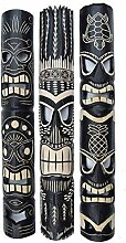 3 Tiki Wandmasken 100cm in Tiki Hawaii Style Maske