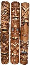3 Tiki Wandmasken 100cm Wandmaske Tiki Maske