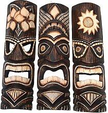 3 Tiki Wandmasken 50cm Wandmaske Tiki Maske Hawaii