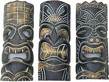 3 Tiki Wandmasken je 30cm Wandmaske Tiki Maske