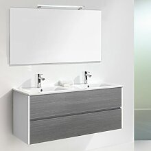 3-tlg. Badmöbel-Set Daugava mit LED Spiegel