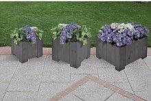 3-tlg. Blumenkübel-Set Garten Living Farbe: