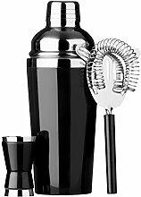 3-tlg. Cocktail-Set Colour: Black