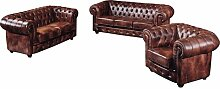 3-tlg. Couchgarnitur Boles aus Echtleder