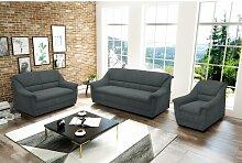 3-tlg. Couchgarnitur-Set Kallie ModernMoments