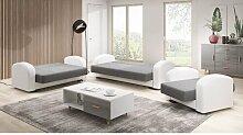 3-tlg. Couchgarnitur Vahit Ebern Designs Farbe der