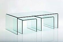 3-tlg. Couchtisch-Set Club KARE Design