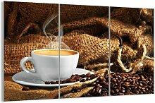 3-tlg. Glasbilder-Set Der Geruch von Mokka und die