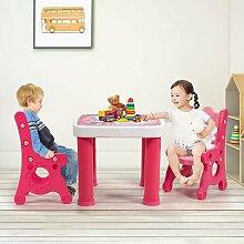 3 TLG. Kindersitzgruppe, hoehenverstellbarer