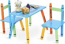 3 tlg. Kindersitzgruppe Kindermöbel mit Stuhl und