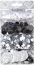 3 tlg. Konfetti Silberhochzeit 25 Jahre Streudeko Party Deko Silber