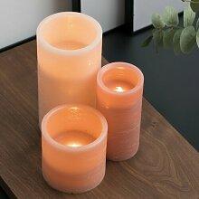 3-tlg. LED-Kerze Set Shine Like A Candle