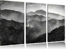 "3-tlg. Leinwandbild-Set ""Buddha-Bild im Tal der"