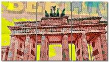 "3-tlg. Leinwandbilder-Set ""Berlin"","