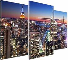 3-tlg. Leinwandbilder-Set New York, Fotodruck East