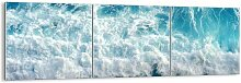 3-tlg. Panorama-Glasbilder-Set Joyfully and in