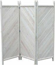 3-tlg Raumteiler, 180 x 181 cm