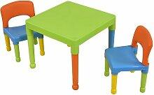 3-tlg. Tisch- und Stuhl-Set für Kinder Roomie Kidz