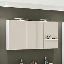 3 türiger Badezimmer Spiegelschrank in Weiß 120