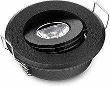 3 W LED-Einbaustrahler, klein, verstellbar, hohe