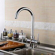 3 Wege Küchenarmatur 360° Schwenkbar Trinkwasser
