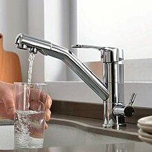 3-Wege-Küchenarmatur für Wasserfilter 360 °