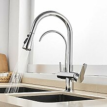 3 wege wasserhahn, Flexible Armatur Küche Kupfer