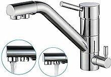 3-Wege-Wasserhahn für Wasserfilter Küche Spüle